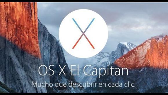 Apple lanza OS X El Capitan y estas son las novedades