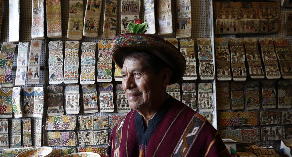 Primitivo Evanán Poma, en una sesión de fotos para este diario. Foto: Piko Tamashiro para El Comercio.