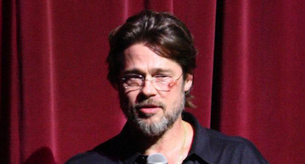 Brad Pitt apareció magullado en gala benéfica