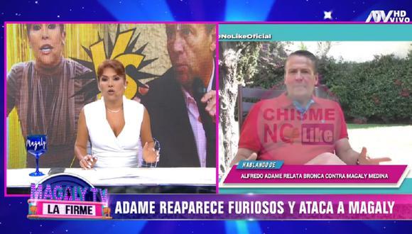 Magaly Medina le responde a Alfredo Adame luego que el actor recordó el pasado de la conductora peruana en la cárcel. (Foto: Captura ATV)