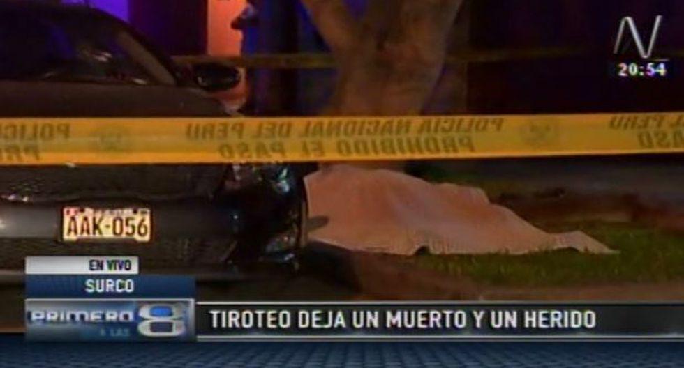 Surco: un hampón fue abatido en frustrado robo de automóvil