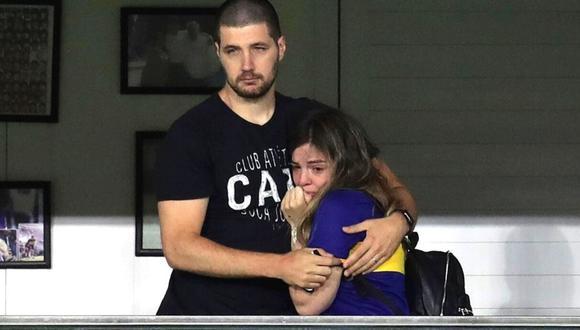 """""""Tengo días muy tristes y otros un poco mejores"""", también señaló la hija del 'Pibe de Oro' (Foto: AP)"""