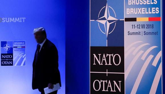 Donald Trump presionó a los miembros de la OTAN para que dupliquen su gasto en defensa. (Reuters).