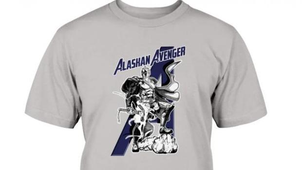 Clothing for 'Alaskan Avenger' - Jason Vukovic - Honor Rawat is spreading on the internet.  (Photo: Who's right? Podcast).