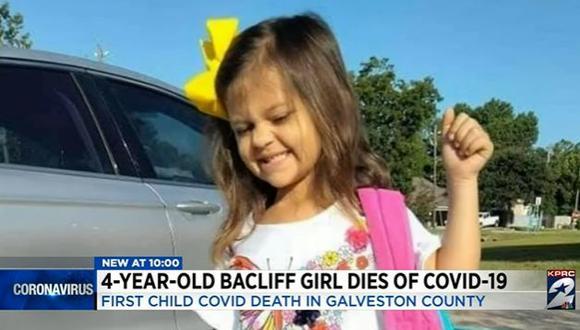 La pequeña perdió la vida el martes 7 de setiembre. (Foto: captura de pantalla)