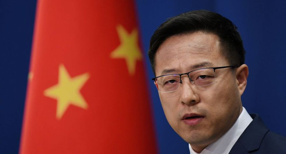 """El vocero del Ministerio del Exterior de China, Zhao Lijian, dijo que la decisión fue """"una nueva demostración de que Estados Unidos prefiere el unilateralismo al retirarse de grupos y violar contratos"""". (Photo by GREG BAKER / AFP)."""