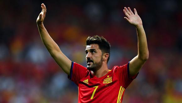 David Villa, el asturiano que dejó en alto la selección española. (Foto: Agencias)