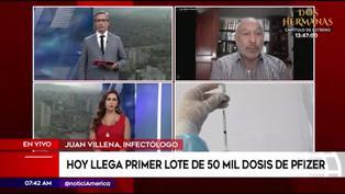 """Villena: """"Vacuna de Pfizer solo podrá ser aplicada en lugares donde se garantice la cadena de frío"""""""