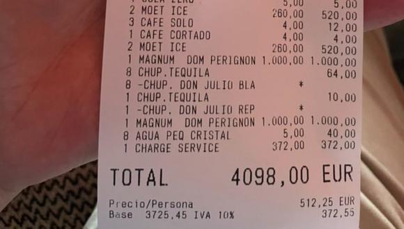 Paga en un restaurante más de 4 mil euros por comer hamburguesas y se queja del trato del mozo. (Foto: @kike_moris / Twitter)