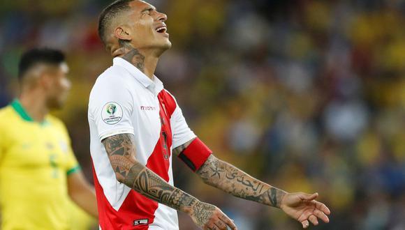 La última vez que la selección peruana jugó un partido sin Paolo Guerrero fue ante Brasil en la victoria nacional 1-0 en Los Angeles, Estados Unidos. (Foto: EFE)