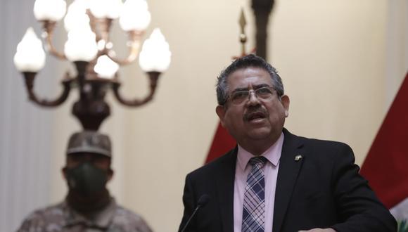 Presidente del Congreso, Manuel Merino, anuncia que Acción Popular presentará proyecto de reforma constitucional para suprimir el voto de confianza a cada nuevo Gabinete (Foto: Congreso)