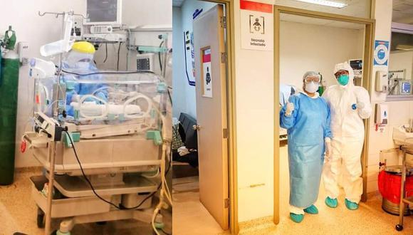 Los médicos informaron que la criatura nació el 12 de mayo a las 11 p.m. por cesárea. (Foto: Hospital Regional de Ica)