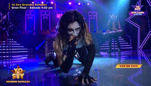 """Imitador de Marilyn Manson volvió a """"Yo Soy"""" por su revancha. (Foto: Captura Latina)"""