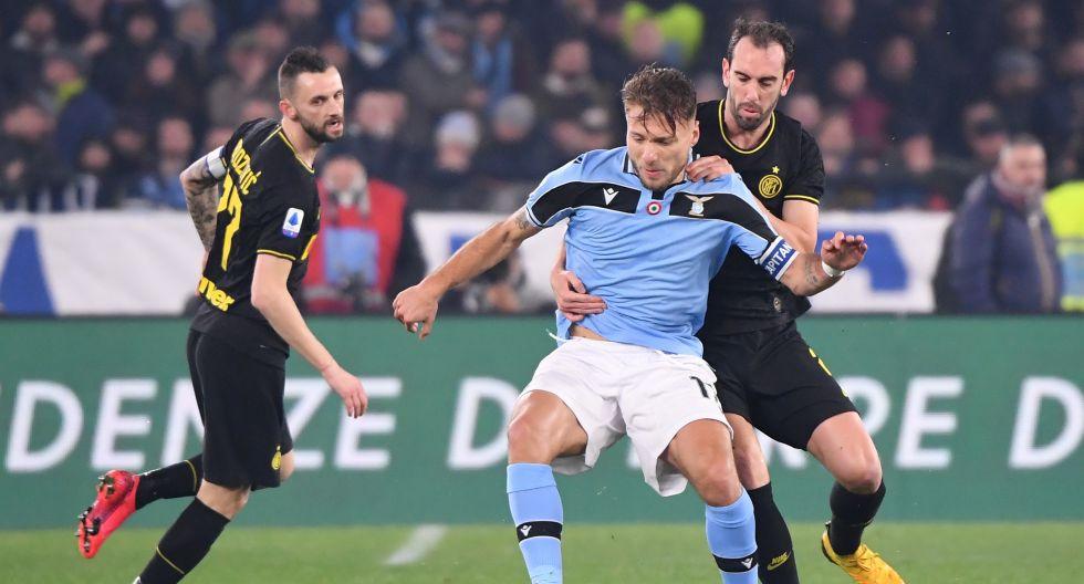Inter vs. Lazio, en el estadio Olímpico, por la Serie A. (Foto: AFP)