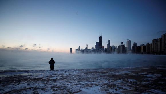 Este jueves la paralizada ciudad de Chicago (EE.UU.) registró temperaturas de -21 grados, mientras que en Winnipeg (Cánada) las temperaturas oscilan en -40 grados.  (Foto referencial: EFE)