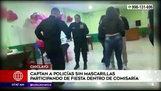 Chiclayo: policías sin mascarilla bailan en fiesta dentro de comisaría