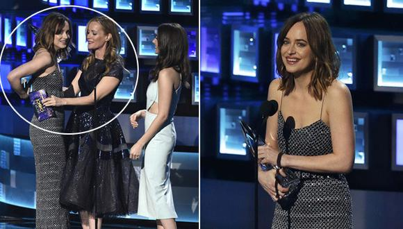 People's Choice Awards: Dakota Johnson vivió incómodo momento