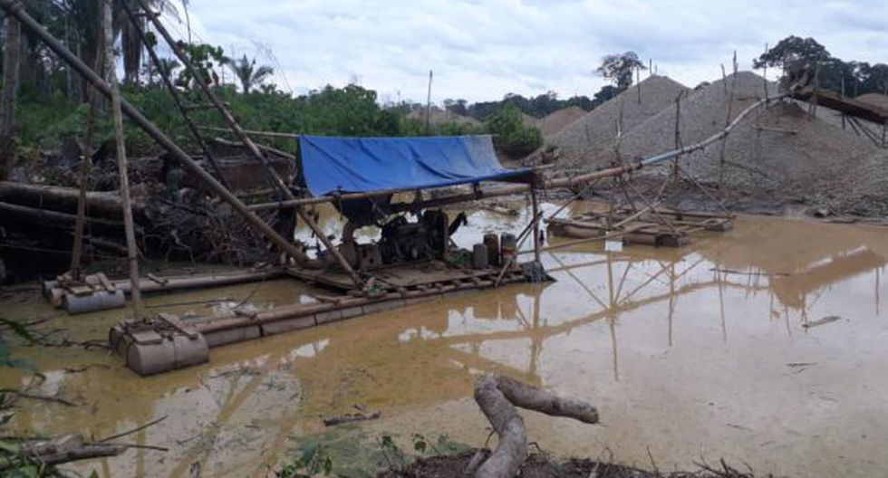 La Pampa: destruyen balsas utilizadas en la minería ilegal
