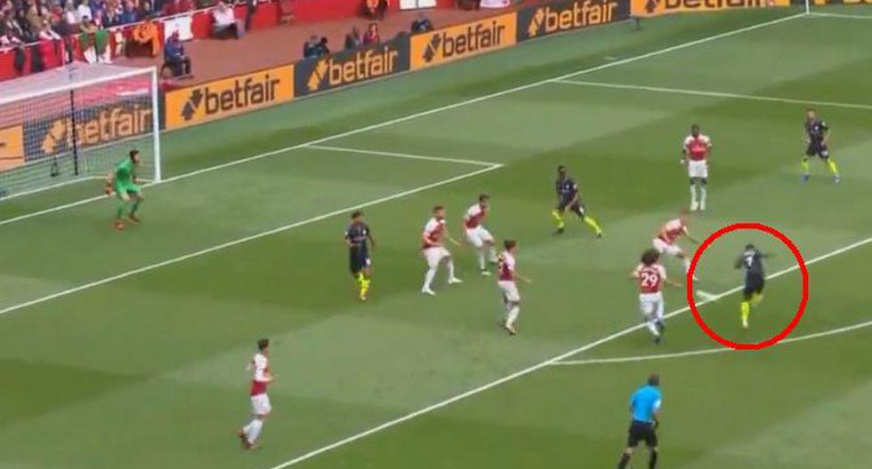 Manchester City vs. Arsenal: Steerling marcó un golazo desde fuera del área. (Foto: Captura de video)