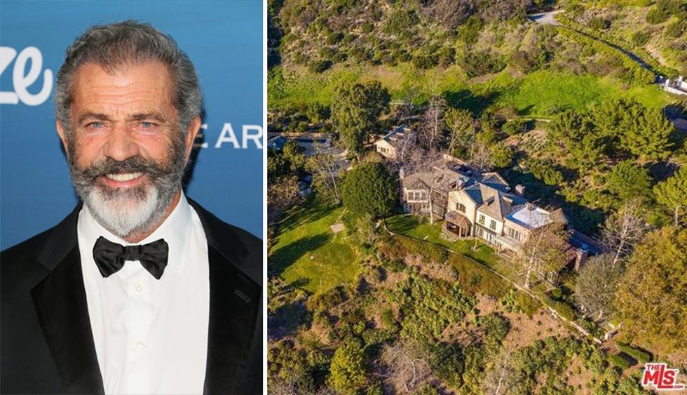 Mel Gibson compró esta elegante propiedad en 2008 por $ 11.5 millones a David Duchovny y Téa Leoni, quienes estaban casados en ese momento. (Foto: The MLS)