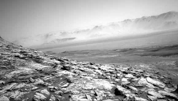 La imagen captada por el Curiosity. (Foto: NASA/ JPL-Caltech)