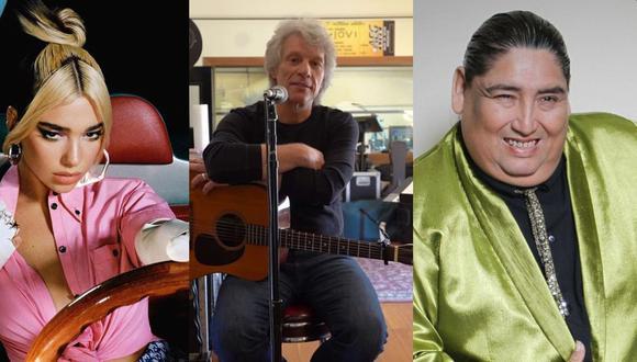 Dua Lipa, Bon Jovi y Tongo: tres de los músicos que han lanzado nuevo material en las última semanas. (Fuente: Difusión)