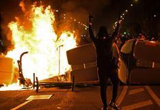 Vandalismo en las protestas en Barcelona contra encarcelamiento de rapero   FOTOS