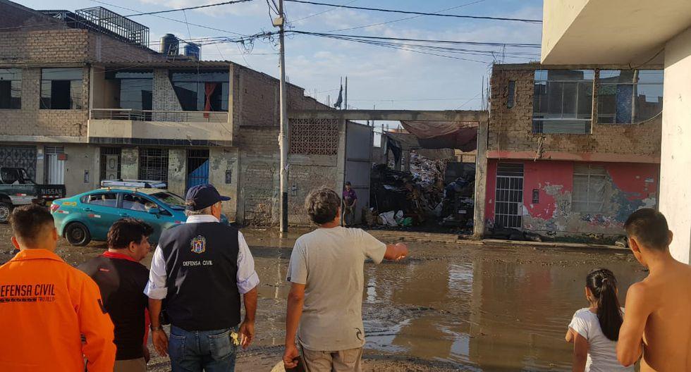 La Libertad: lluvia activa quebrada que inundó Trujillo dos años atrás. (Foto: Johnny Aurazo)