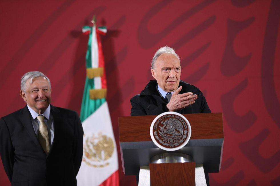 El presidente de México, Andrés Manuel López Obrador, junto al fiscal general Alejandro Gertz Manero. (EFE/Sáshenka Gutiérrez).