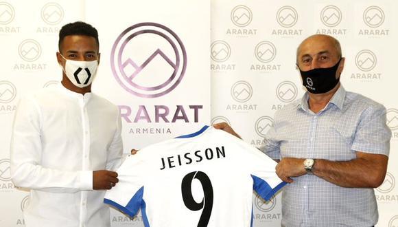 Jeisson Martínez vestirá la camiseta '9' en el Ararat de Armenia. (Foto: Twitter del Ararat)