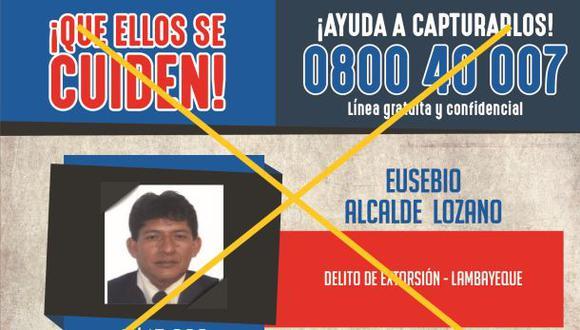 Los más buscados: extorsionador de comerciante cayó en Chiclayo