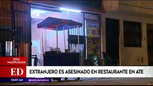 Ate Vitarte: hombre fue asesinado cuando cenaba al interior de un restaurante