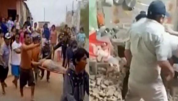 También en un video se observa a otra ciudadana siendo auxiliada en una camilla. (Captura: Videos Latina y Canal N)