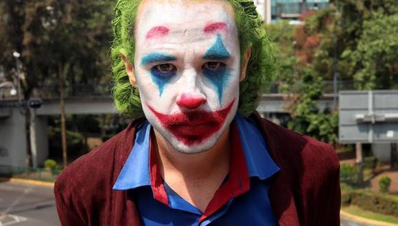 El joven mexicano imitó a Joker a quien él llama, el Bromas.