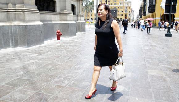 Contraloría emite informe sobre contrataciones en el MTC cuando Mirian Morales era funcionaria de dicho sector (Foto: Alonso Chero)