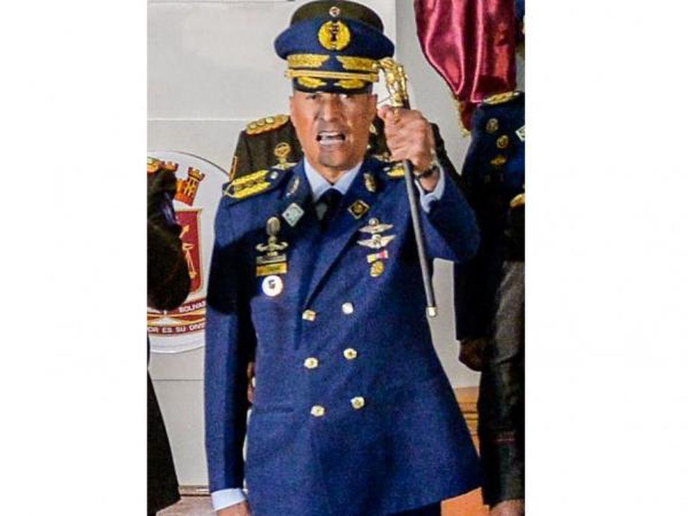 Pedro Alberto Juliac Lartiguez, comandante general de la Fuerza Aérea. (Foto: AFP).