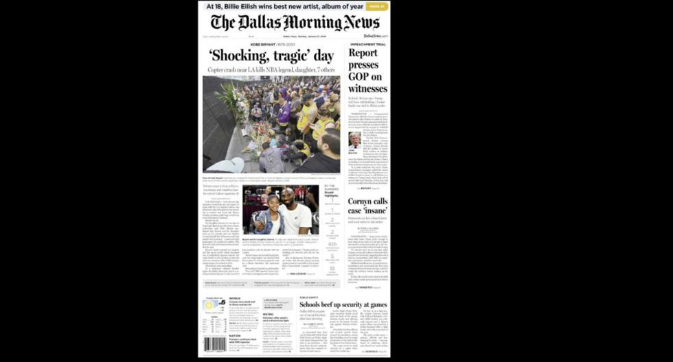 La portada de The Dallas Morning News. (Foto: Difusión)