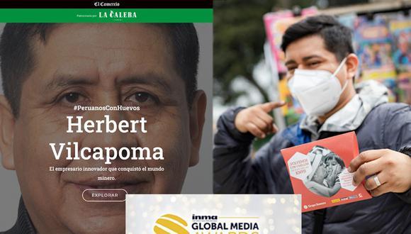 Dos campañas de El Comercio, #DetrásDeUnaMascarilla y #PeruanosConHuevos, reciben menciones honrosas en los 2021 Global Media Awards de INMA.