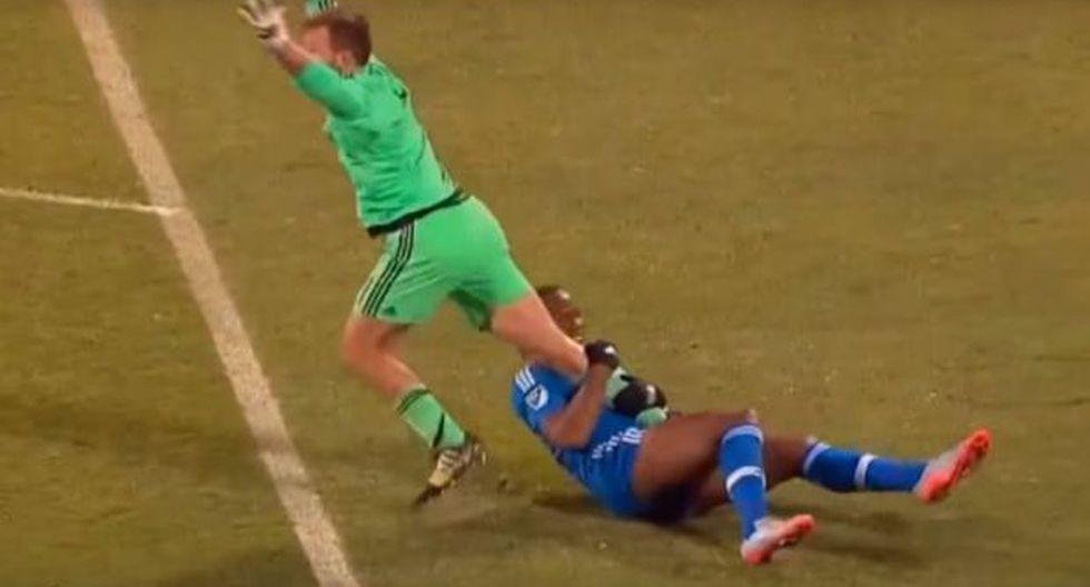 Didier Drogba hizo esta grave falta y emuló llave de lucha