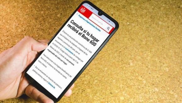 Aprende a consultar la página web oficial del Gobierno creada para el Bono 600 soles que ofrece el Midis. (Foto: Difusión)