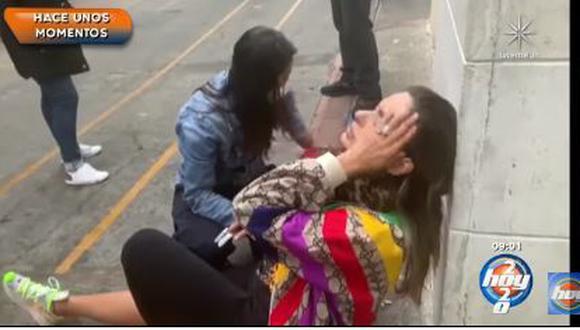 """Galilea Montijo sufrió fuerte caída y desmaya al llegar al programa """"Hoy""""   VIDEO"""
