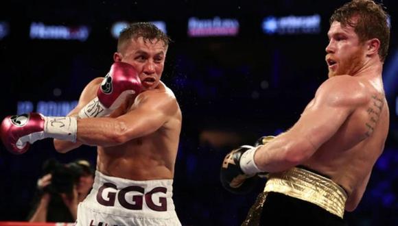 """""""Para quien escribe, 'Triple G' estuvo delante por tres puntos, veredicto que comparte la prensa especializada"""". (Foto: AFP)"""