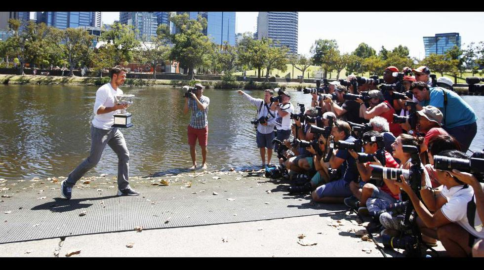 Stanislas Wawrinka y la foto soñada tras el Open de Australia - 1