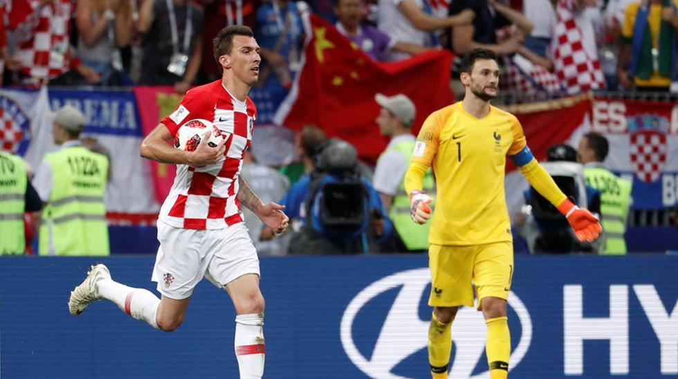 Francia vs. Croacia EN VIVO: el gol de Mandzukic para el 4-2 en la final del Mundial Rusia 2018. (Foto: Agencias)