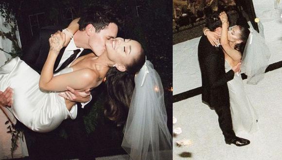 Ariana Grande comparte las primeras fotografías de su boda con Dalton Gomez. (Foto: @arianagrande)