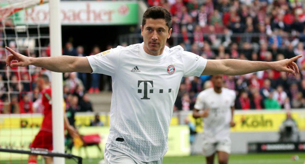 Lewandowski, goleador del Bayern Múnich. (Foto: AFP)