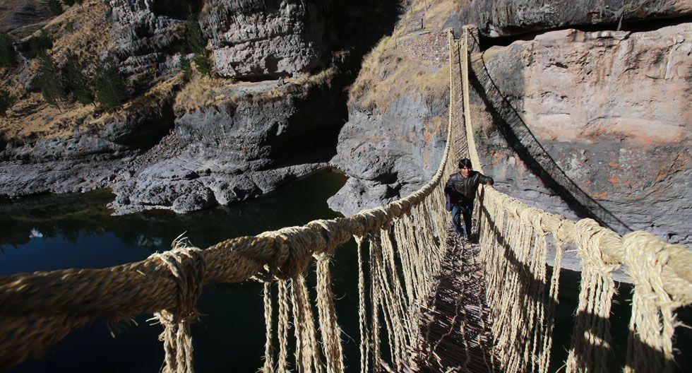 El tour  para visitar el puente tiene un costo de S/120.(Foto: Anthony Niño de Guzmán / Archivo El Comercio)