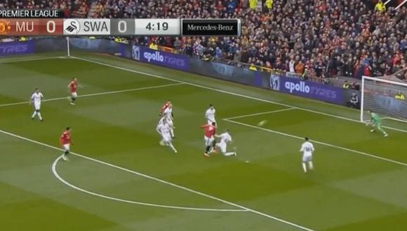 Manchester United y el golazo de Lukaku con 'Tiki-Taka' incluido. (Foto: Captura)