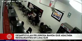 PNP desarticula peligrosa banda que asaltaba restaurantes en Lima Sur