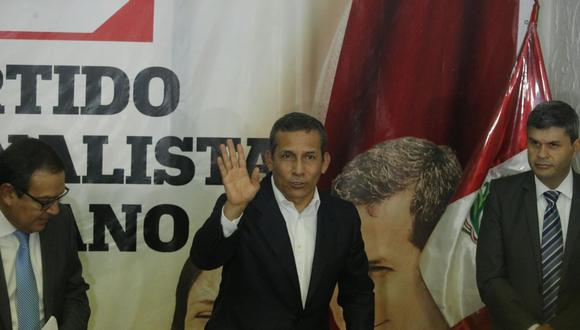 Ollanta Humala cuestionó la incautación de cuentas del Partido Nacionalista. (Foto: GEC)